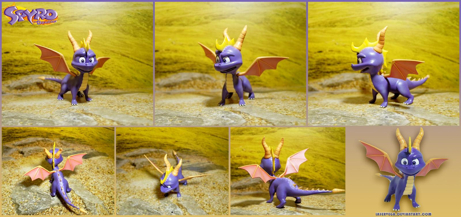 Classic Spyro figure by Laservega