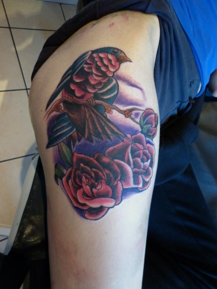 Traditional sparrow tattoo by lianjmc on deviantart for Traditional sparrow tattoo