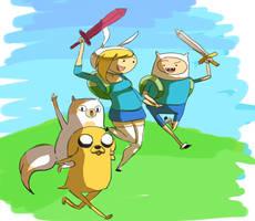 Adventure heroes by Arkel-chan