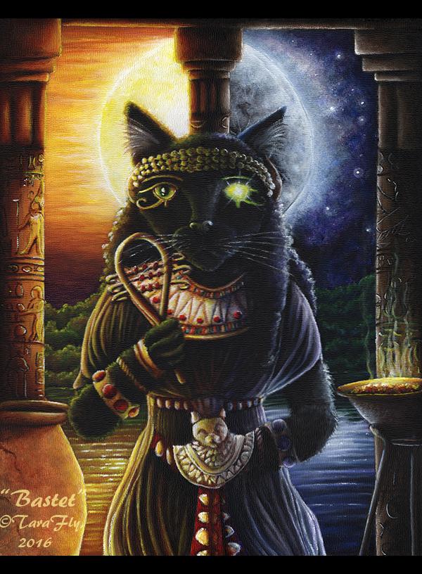 Bastet Cat Goddess by TaraFlyArt