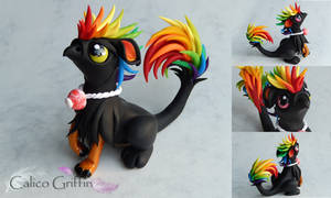 Arco - the rainbow griffin by CalicoGriffin
