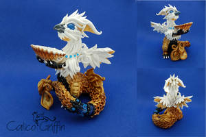 Royal Ocean Griffin ring-holder - proposal gift! by CalicoGriffin