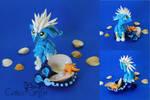 Zee the ocean griffn - polymer clay sculpture