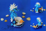 Zee the ocean griffn - polymer clay sculpture