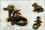 Estrella dice dragon - polymer clay