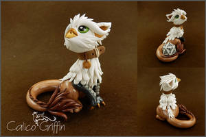Ain the dice griffin - polymer clay