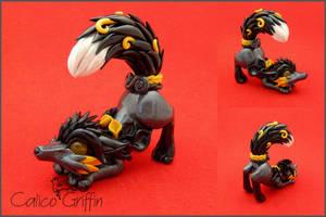 Estrella serie: Black Kitsune by CalicoGriffin