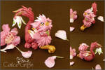 Trinni the flower griffiness - polymer clay
