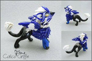 Lunaris - the moon griffin - polymer clay by CalicoGriffin