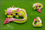 Pastel Cayo Dragon - polymer clay