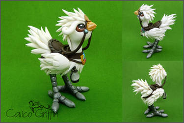 Custom: White Chocobo by CalicoGriffin