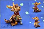 Christmas Reingriff #1 - polymer clay figurine