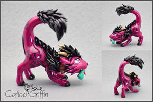 Playful Cayo Dragon - polymer clay by CalicoGriffin