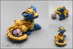 Turquoise armored Cayo Dragon - dice holder