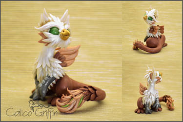 Griffin - polymer clay figurine by CalicoGriffin
