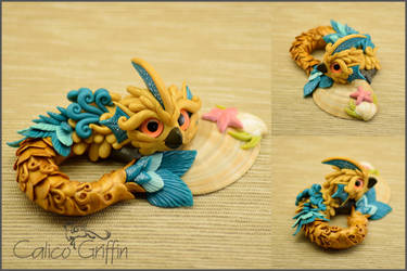 Yerrini the Seagriffin - polymer clay figurine by CalicoGriffin