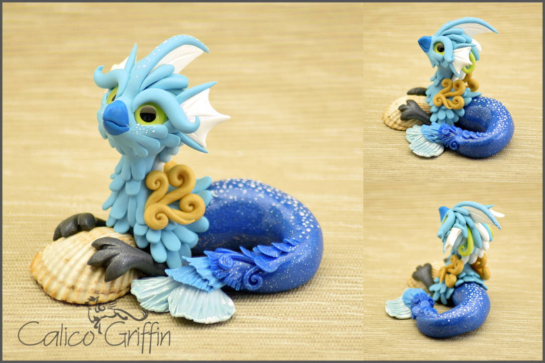 Azuri the Seagriff - polymer clay figurine. by CalicoGriffin
