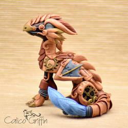 Steampunk Dragon - polymer clay figurine