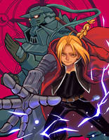 FMA : Elric Brothers by sehika