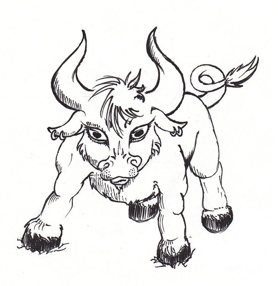 cute little taurus 3 by jakalgirl traditional art drawings other 2010    Taurus Bull Drawing