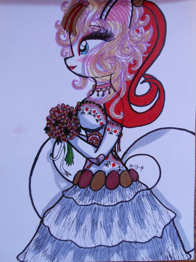 Card-themed Bride by ZoeBellethecat