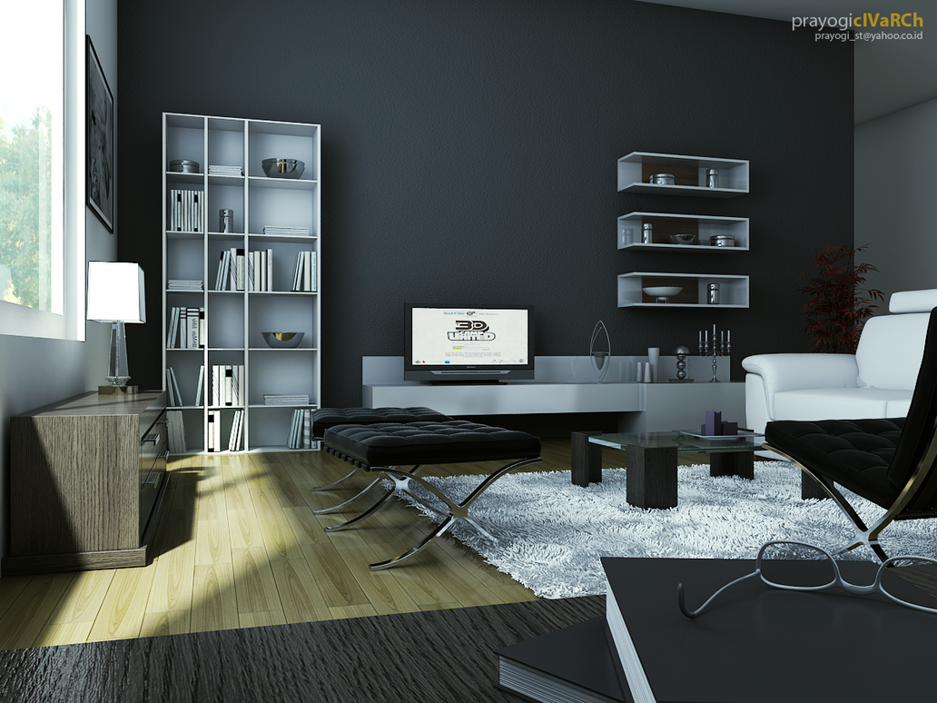 modern living room by prayogi87
