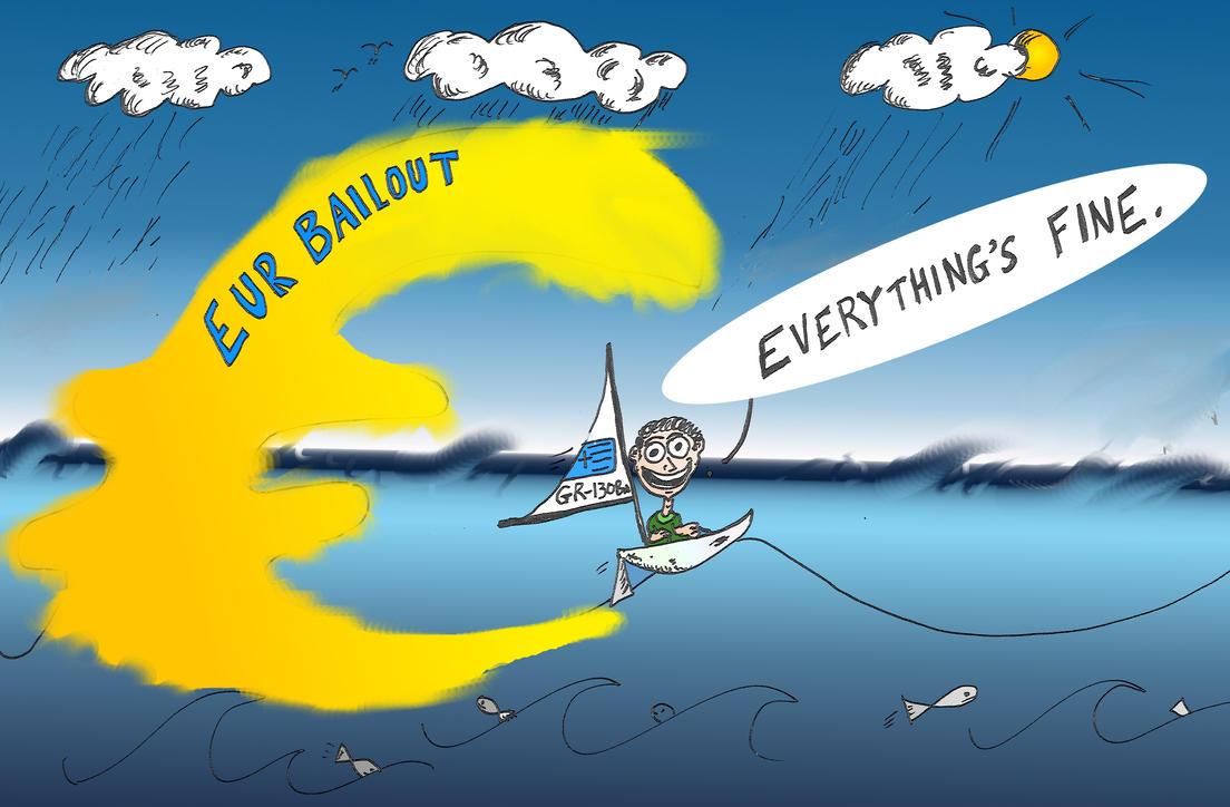 binary options cartoon EUR Bailout of Greece by optionsclickblogart