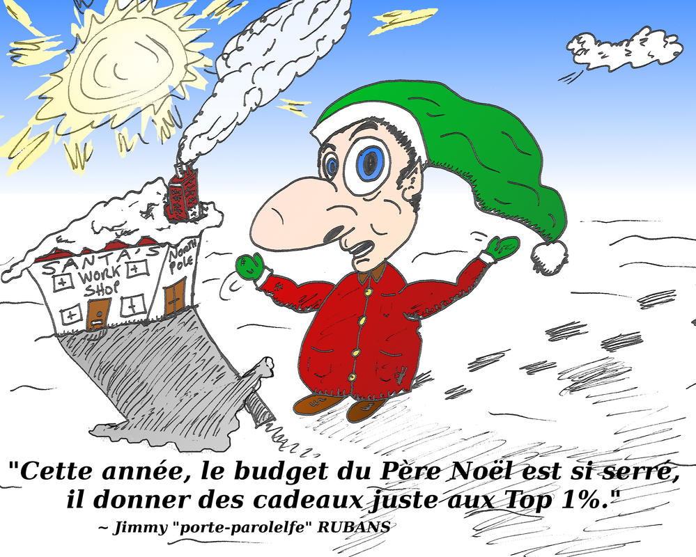 comique des 1 pour cent du Pere Noel by optionsclickblogart