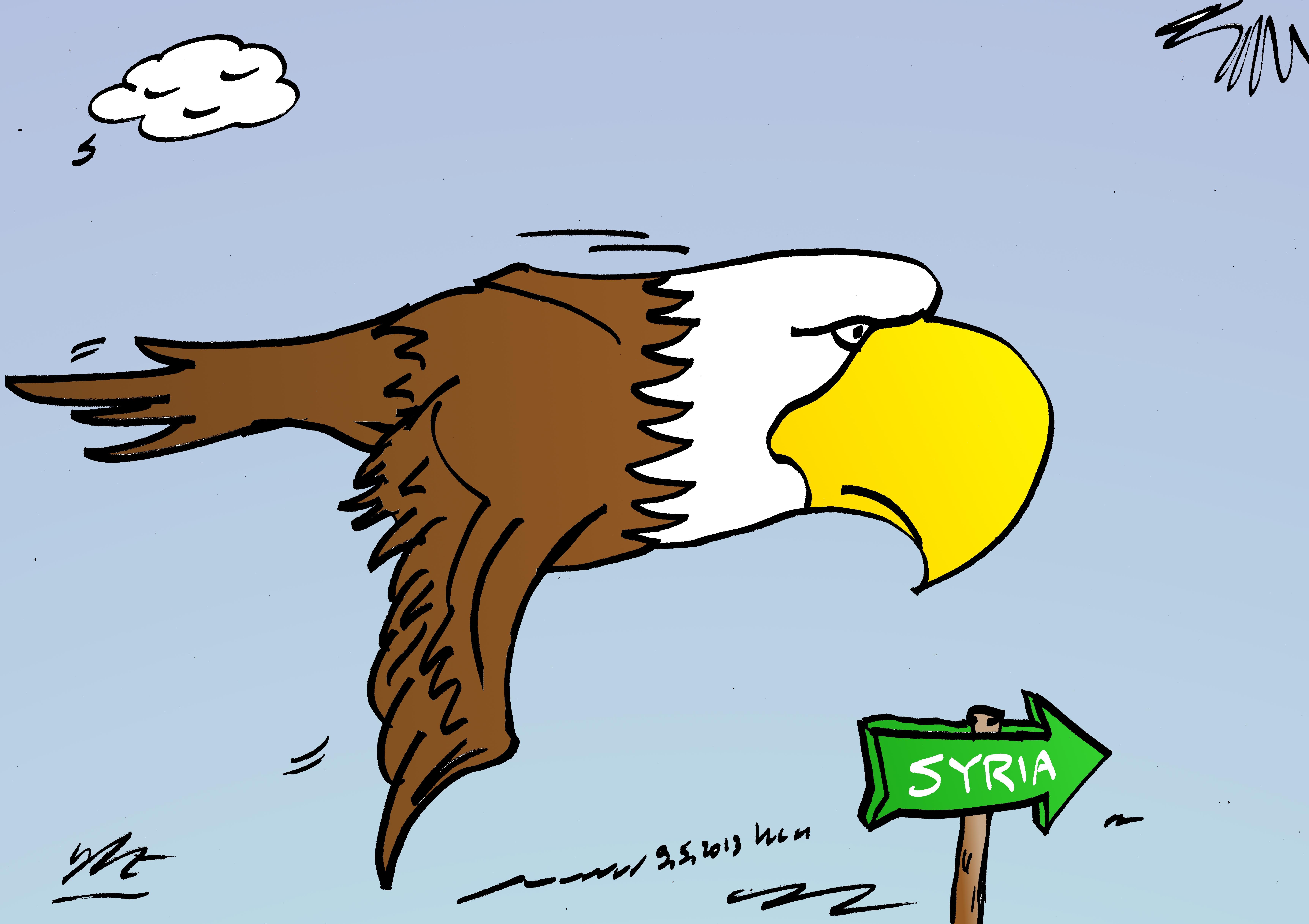 Binary Options News Cartoon Bald Eagle Flying by ...  Baby