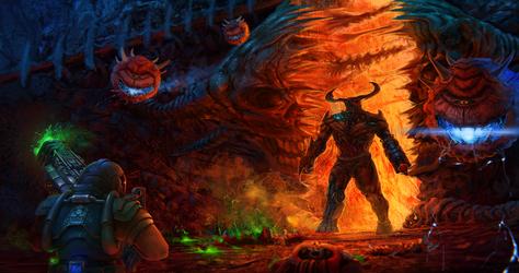 Doom guy invasion by tacihon