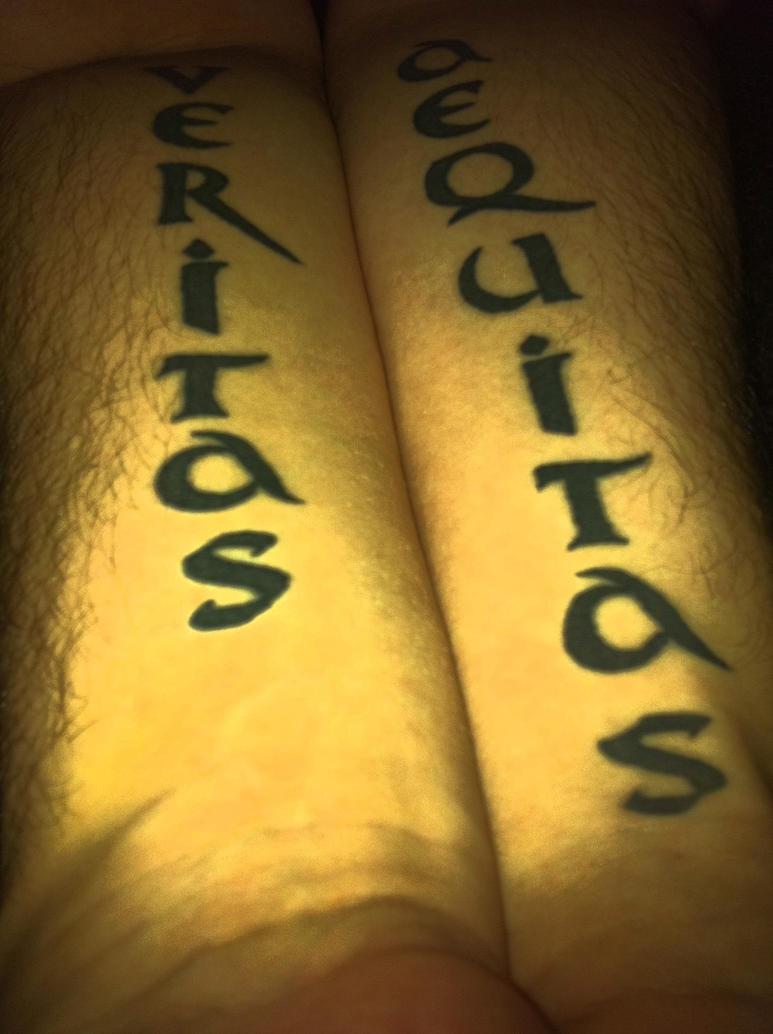 Tattoo veritas aequitas by scaludos on deviantart for Veritas aequitas tattoos