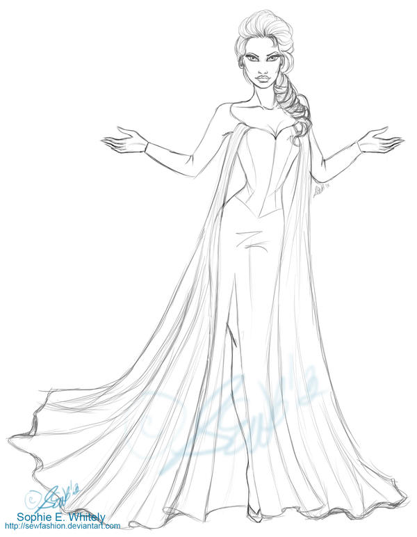 Frozen Elsa Pictures To Draw | New Calendar Template Site