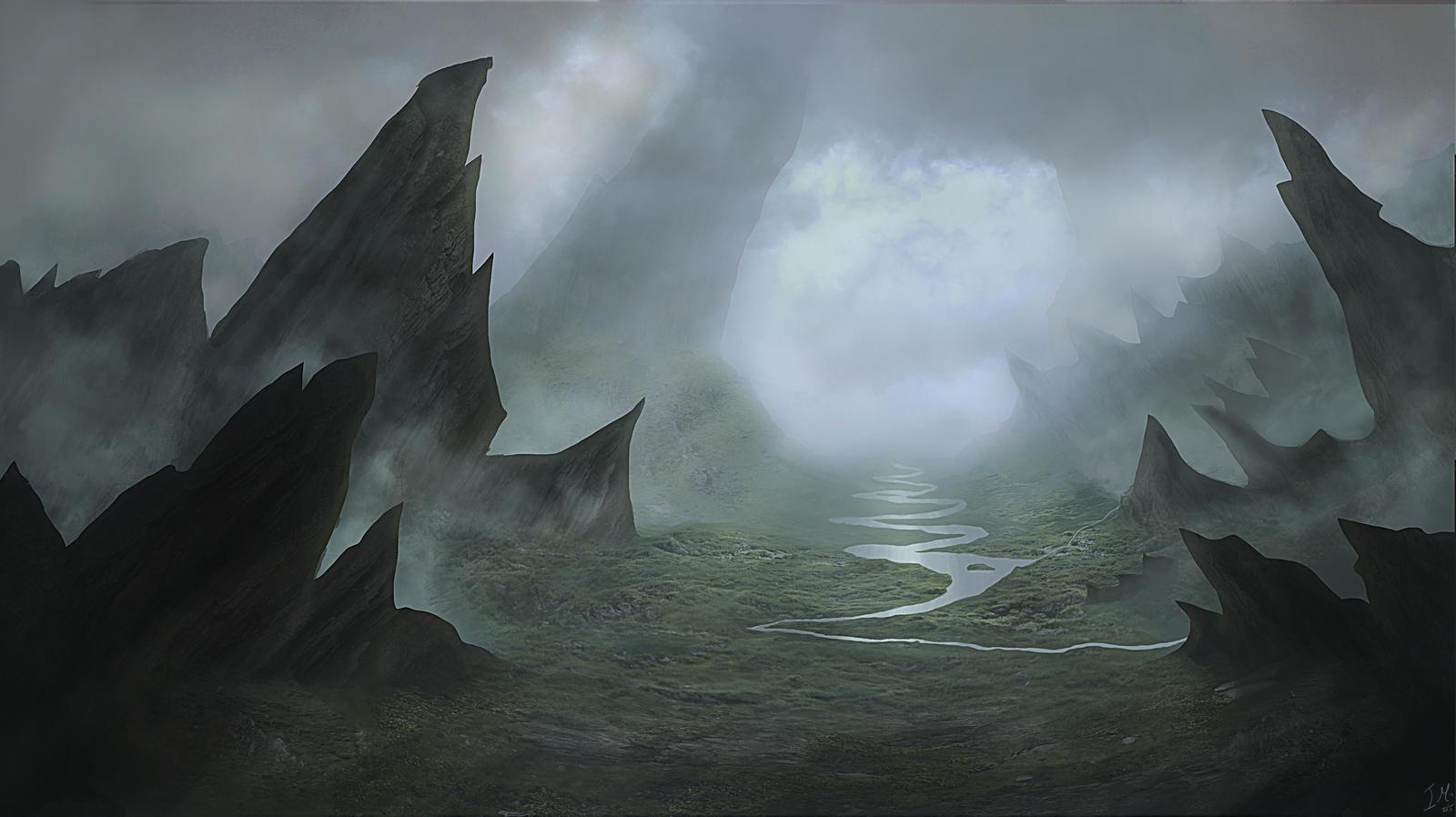 Landscape - Fantasy - Dark Valley by Sinate on DeviantArt