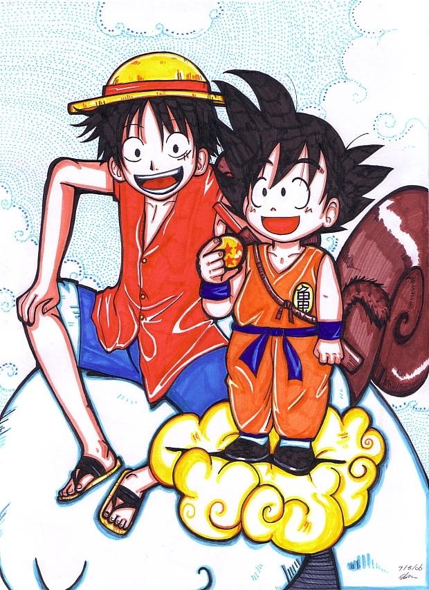 صور ون بيس - ناروتو - دراغن بول (معا) Son_Goku_Meets_Luffy_by_CrossEpoch.jpg