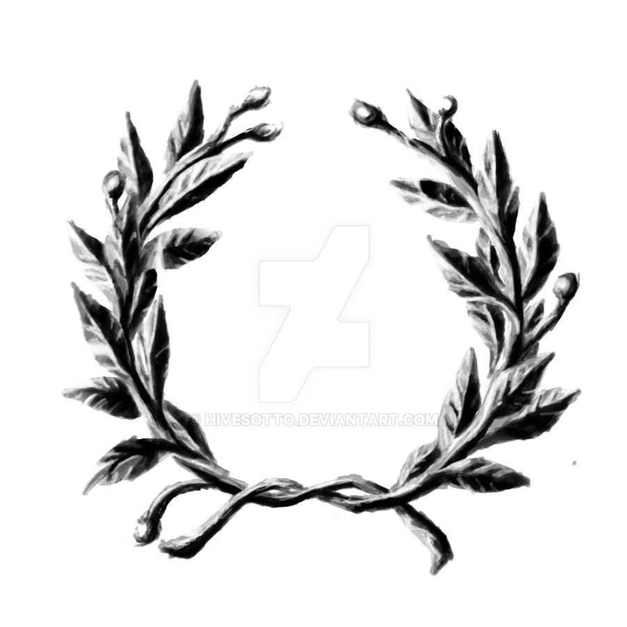 Laurel wreath by hivesotto on deviantart for Laurel leaf crown template