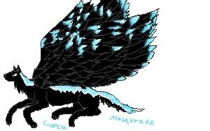 Flying Black Wolf by Lunardew