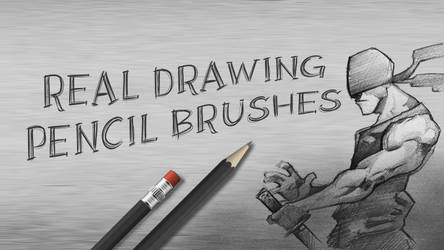 Real Drawing Pencil Brushes for Photoshop