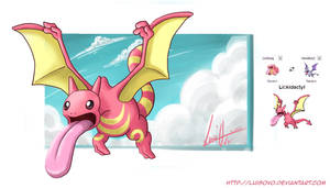 Lickidactyl - Pokemon fusion by Luisovo