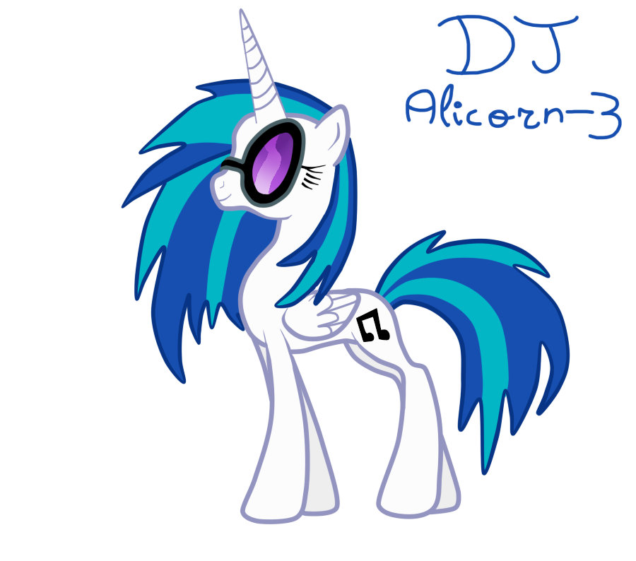 DJ Alicorn - 3 by LizaPicture