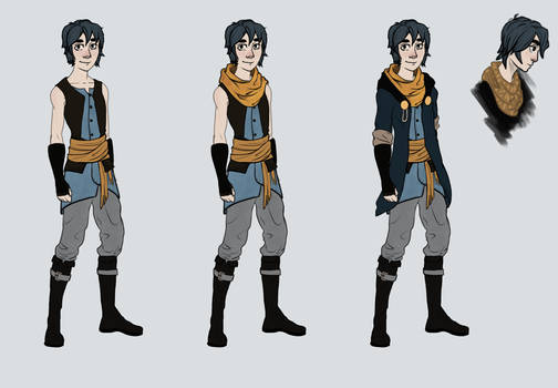 Mark - Final Outfits for Book 1
