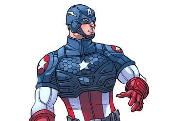 Captain America by robtlsnyder