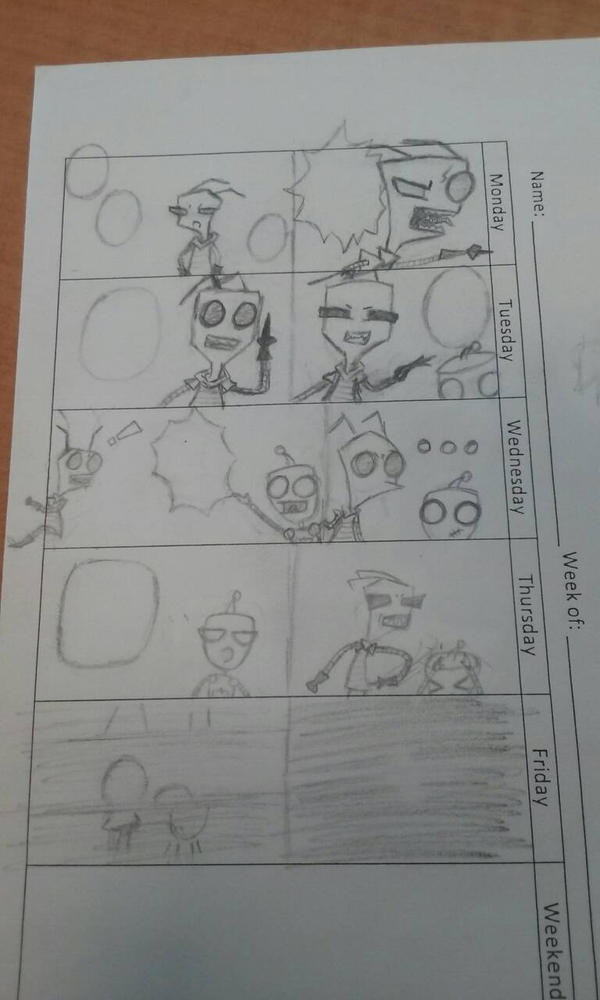 (boredom overtook me) Invader Zim comic by MimiKawaiiLove