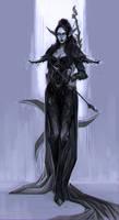 Commission: elf warrior by LacticWanda