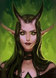 Commission: Saryndia's portrait by LacticWanda