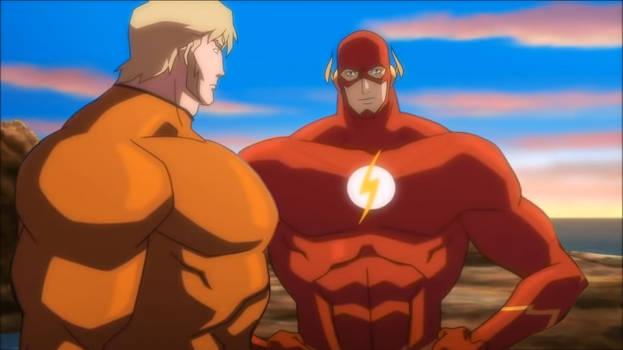 Aquaman and Flash Muscle Edit