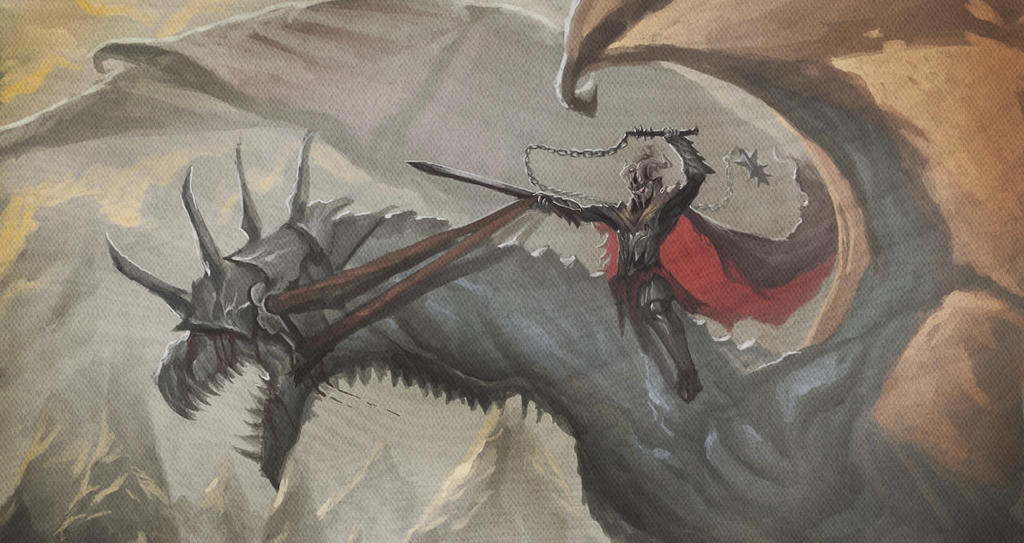 Concours de Peinture n°7: Andrann i ùan - L'Age des Monstres The_witch_king_and_his_fellbeast_by_sanekyle-d8mmidl