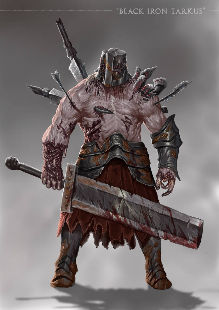 Grimdark Souls Black Iron Tarkus By Sanekyle On Deviantart