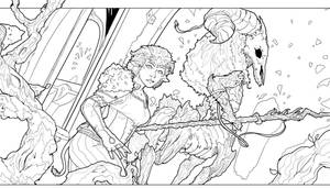 Lineart from Issue 2 - Arrival