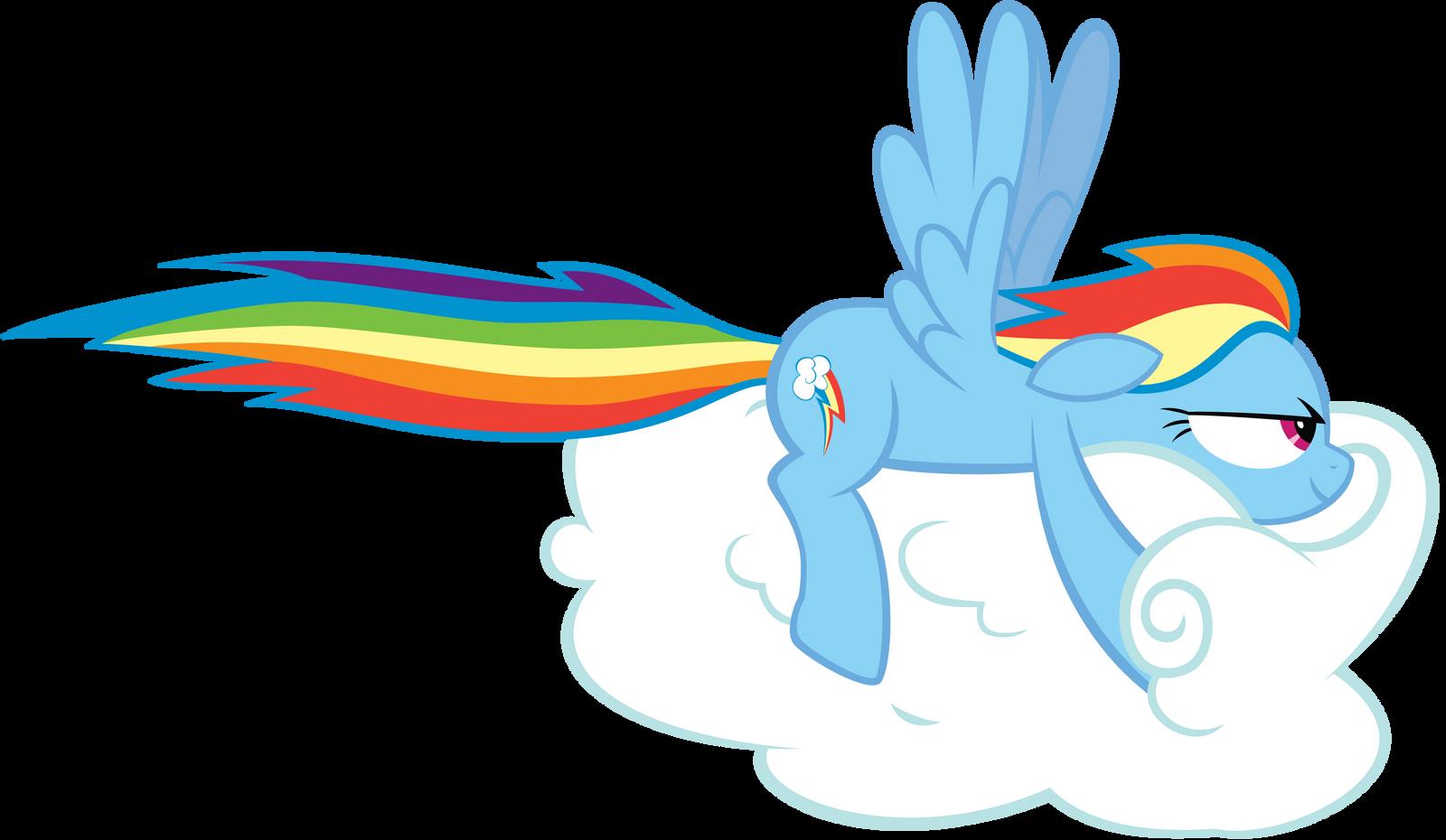 Rainbow Dash Drives a Cloud