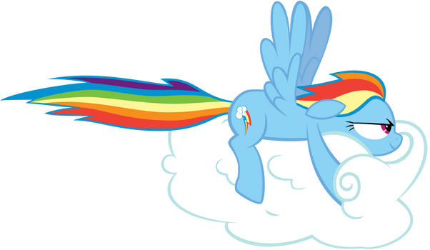 Rainbow Dash Drives a Cloud